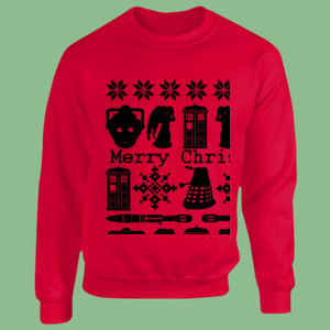 Doctor Who Christmas Jumper - Heavy Blend™ youth crew neck sweatshirt Thumbnail