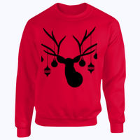 Christmas Deer - Heavy Blend™ youth crew neck sweatshirt Thumbnail