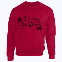 Merry Christmas Snowflake - Heavy Blend™ youth crew neck sweatshirt Thumbnail