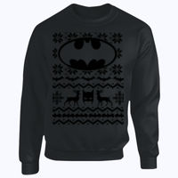 Batman Christmas Jumper - Heavy Blend™ youth crew neck sweatshirt Thumbnail