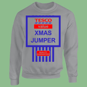 Tesco Xmas Jumper - Heavy Blend™ youth crew neck sweatshirt Thumbnail