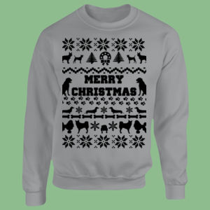 Doggy Christmas - Heavy Blend™ youth crew neck sweatshirt Thumbnail