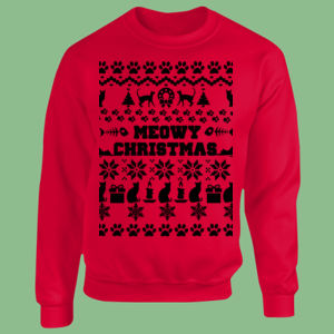 Meowy Christmas - Heavy Blend™ youth crew neck sweatshirt Thumbnail