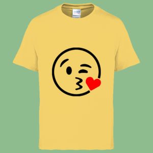 Emoji Blow Kiss - Heavy Cotton™ Youth T-shirt Thumbnail