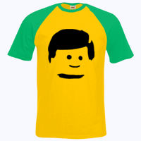 Lego Man Head - Short sleeve baseball tee Thumbnail
