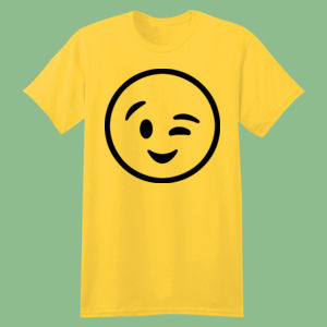 Emoji Winky Face  - Softstyle™ youth ringspun t-shirt Thumbnail