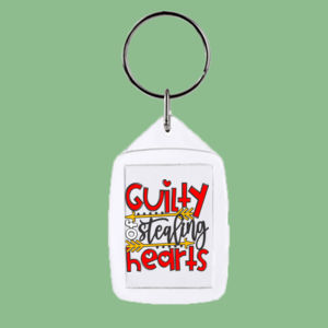 Guilty of Stealing Hearts - Rectangle Smooth Edge Keyring Thumbnail