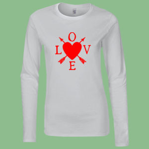 Love - Softstyle™ women's long sleeve t-shirt Thumbnail