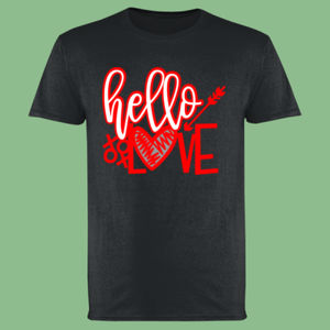 Hello Love - Softstyle™ adult ringspun t-shirt Thumbnail