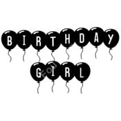 Birthday Girl Balloon Thumbnail