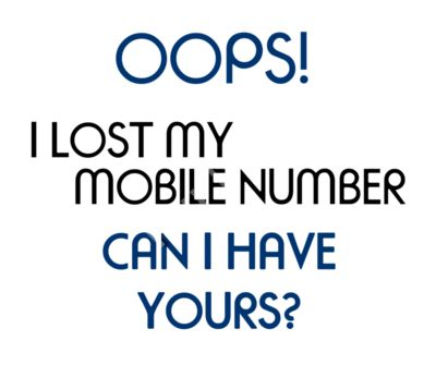 Oops! I lost my Number