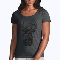 Softstyle® women's deep scoop t-shirt Thumbnail